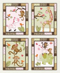 Little Jungle Jilly - Pink and Green Jungle Animal Nursery A