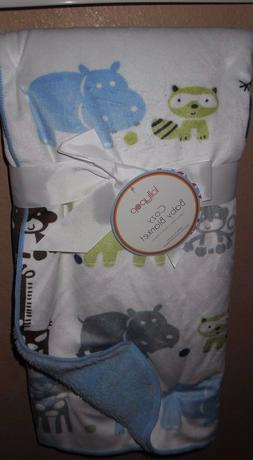 LOLLYPOP JUNGLE SAFARI ANIMALS BABY BLANKET HIPPO ELEPHANT L
