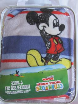 Disney Junior Mickey Mouse 4 Pc Toddler Bedding Set new in p