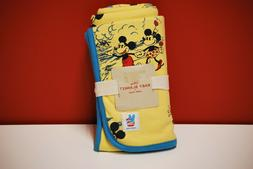 Disney Junk Food Baby Mickey Mouse Yellow & Blue Blanket