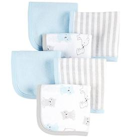 Carter's Just One You Baby Boys 6 Pack Washcloths Blue Bear