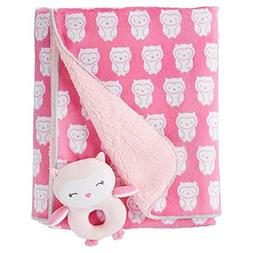 Just One You by Carter's Baby Girls' Owls Soft Plush Blanket