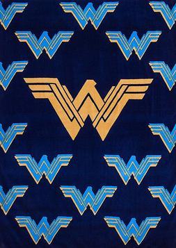 Justice League Wonder Woman Logo Plush Fleece Throw Blanket