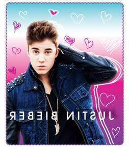 Justin Bieber Heart Frenzy Fleece Throw 50 x 60
