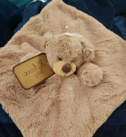 K Luxe Baby KellyToy Teddy Bear Security Blanket W/ Rattle,