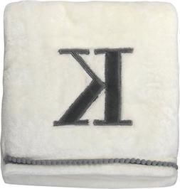 """Little Starter K630498 Baby Blanket, White,; 30"""" x 40"""""""