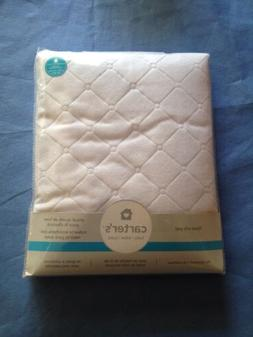 Carter's Keep Me Dry Waterproof Fitted Quilted Crib Pad, Whi