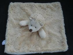 Luxe Baby KellyToy Hedgehog Security Blanket Rattle Plush Lovey Faux Fur NWT K