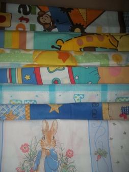 KIDS baby BLANKET PANEL pillow Cotton QUILT Fabric U-PICK se