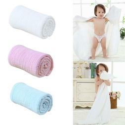 Kids Baby Soft Cotton Gauze Blankets Swaddle Wraps Bath Towe