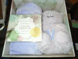 SILVER ONE KIDS BEAR AND BLANKET 2 PIECE GIFT SET  PINK