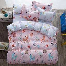 4pcs Kids Bedding Sets Bedroom Set With One Duvet Cover With