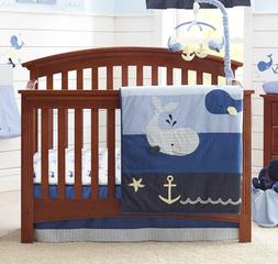 Nautica Kids Brody 4-Piece Crib Bedding Set Star Fish, Ancho