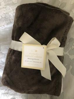 POTTERY BARN KIDS Chamois Stroller Blanket Brown New NWT