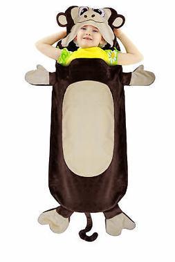 Catalonia Kids Hooded Wearable Monkey Snuggle Tail Blanket,S