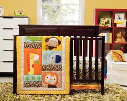 Kids Line Happy Tails 3 Piece Crib Bedding Set