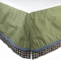 Cocalo Kids Sports Fan Twin Dust Ruffle Bedskirt Green NIP