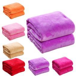 Kids Super Soft Warm Solid Micro Fleece Blanket Throw Rug So
