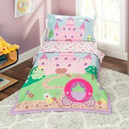Everyday Kids 4 Piece Toddler Bedding Set -Princess Storylan