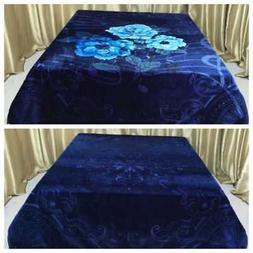King Size Korean Style Mink Blanket Two Ply Heavy Duty 12 LB