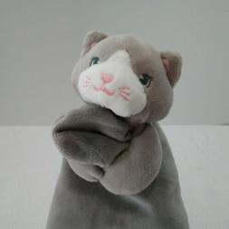 Gund Kitty Cat Baby Lovey Teether Velour Satin Pink Nose Sec