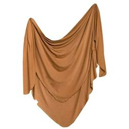 """Large Premium Knit Baby Swaddle Receiving Blanket""""Camel"""" by"""