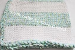 Handmade Knitted Blanket Baby Toddler Infant Crib Bedding Th