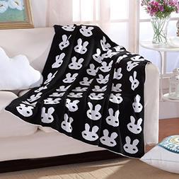 Knitting Blanket Jacquard Soft Sofa Cover Baby Receiving Bla