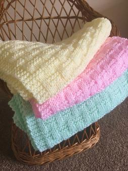 Knitting pattern- Easy Weave Baby Blanket