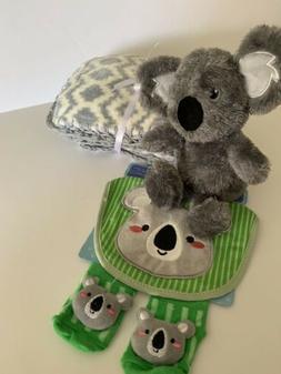 Koala Crochet Baby Blanket Gift Set