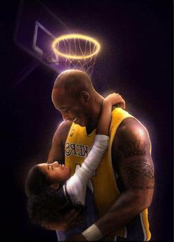 Kobe Bryant Gigi Halo Art poster 24x36 inch New Lakers *fast
