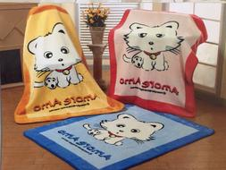 Korean Mink Baby Child Blanket / Throw - Kitty Cat - Amore A
