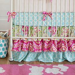 Carousel Designs Kumari Garden Crib Skirt Three Tier 18-Inch