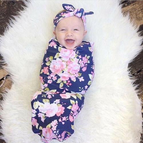 US Baby Cotton Swaddle Blanket Sleeping Sleepsacks 0-6M