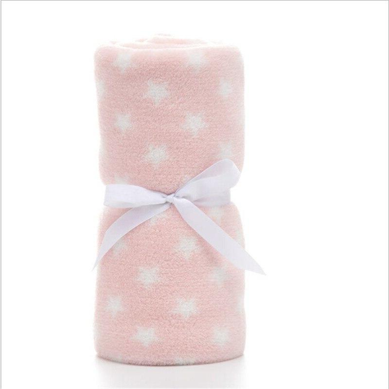 100*75cm Cartoon Soft Comfortable Coral Swaddle