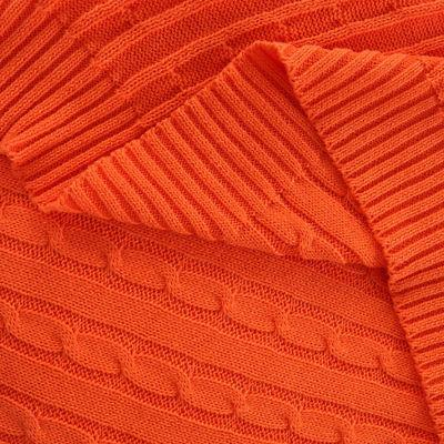 100% Cotton Throw Blanket Knitted Blankets