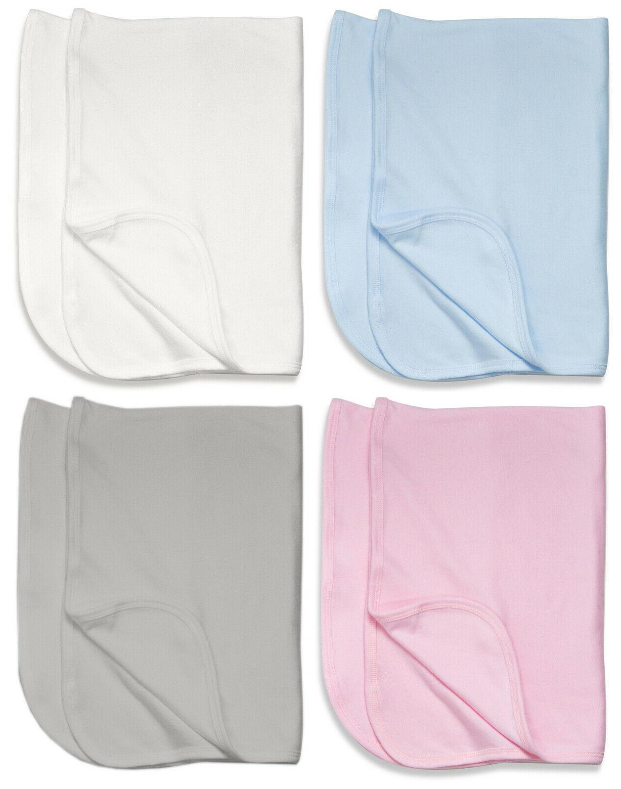 100 percent cotton receiving blanket in blue