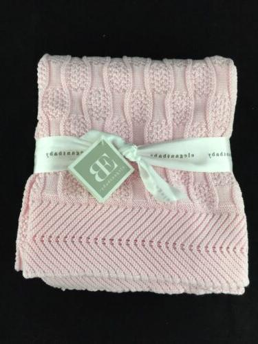 Elegant Baby 100% Cotton Sweater Knit Blanket, Fancy Texture