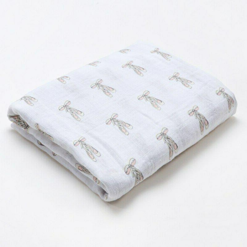 100 percent muslin cotton swaddle baby blanket