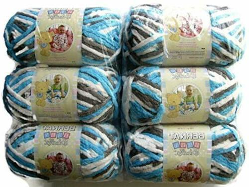 Bernat 161103 Baby Blanket Yarn, 3.5oz, 6-PACK