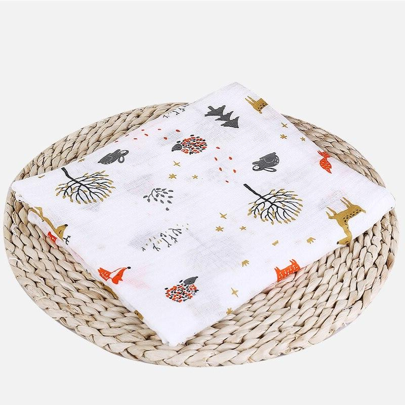 1Pc Muslin 100% Cotton Blankets <font><b>Bath</b></font> Infant Wrap sleepsack Stroller
