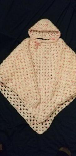 2 Pc Newborn Baby Crocheted Blanket Set
