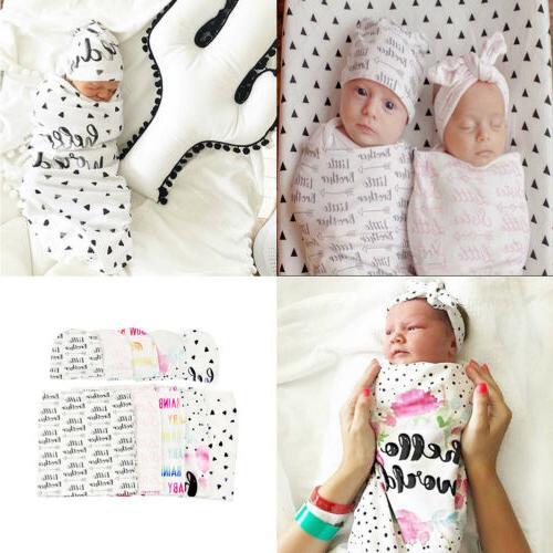2Pcs/Set Newborn Baby Sleeping Muslin Wrap