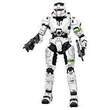 Halo 3 McFarlane Toys Series 8 Action Figure WHITE Spartan E