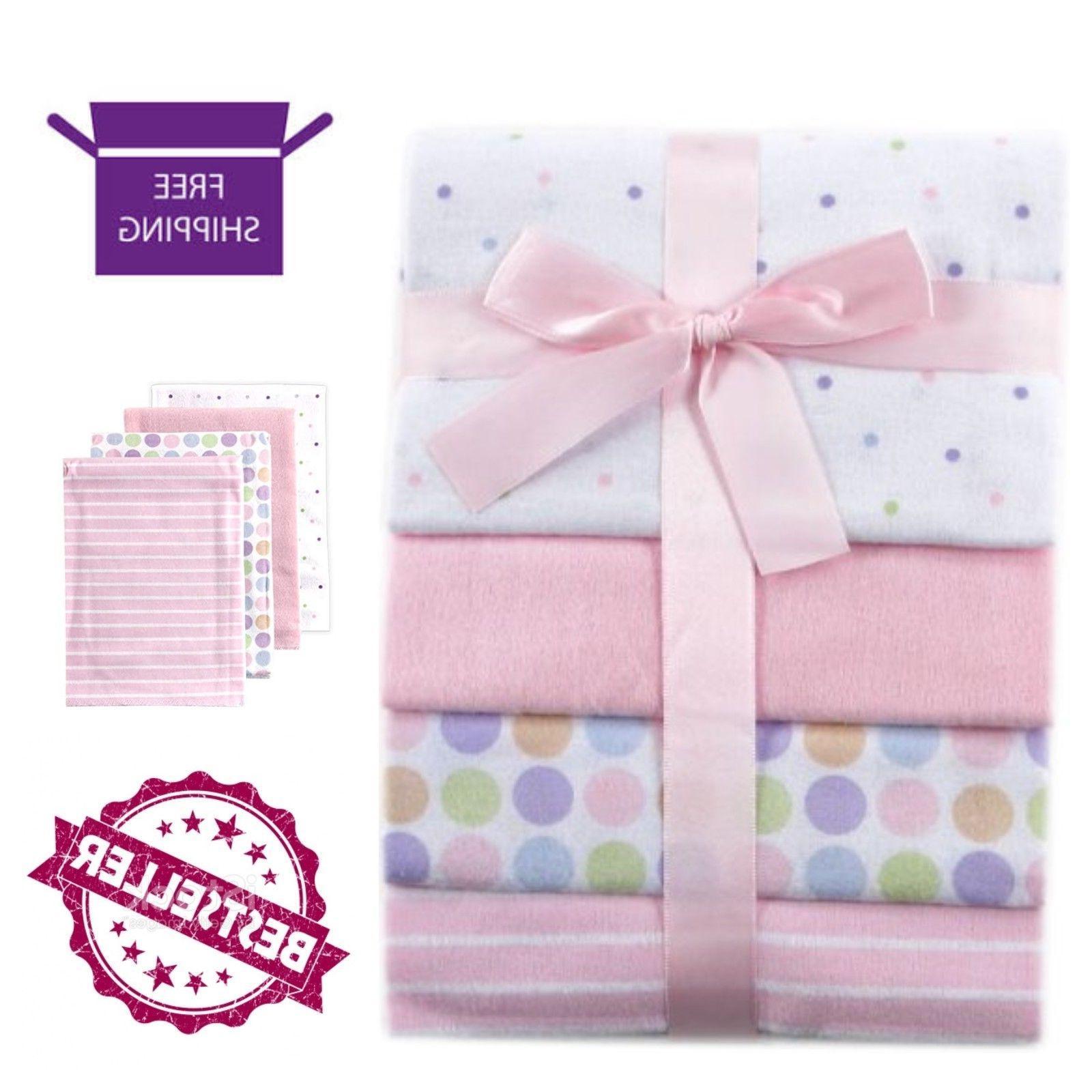 """4-Pack Flannel Receiving Blankets 28"""" x 28"""" Baby Sleeping Nu"""