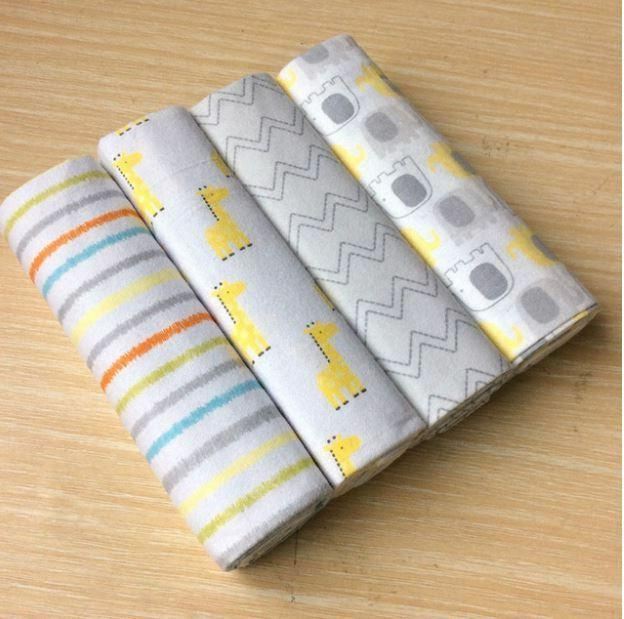 4pcs/Pack Flannel Baby Swaddle Soft Throw