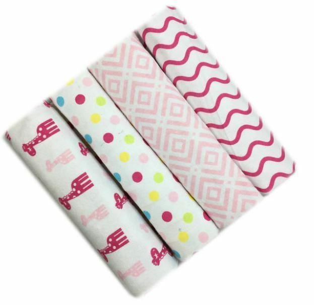 4pcs/Pack 100% Baby Swaddle Soft sheet
