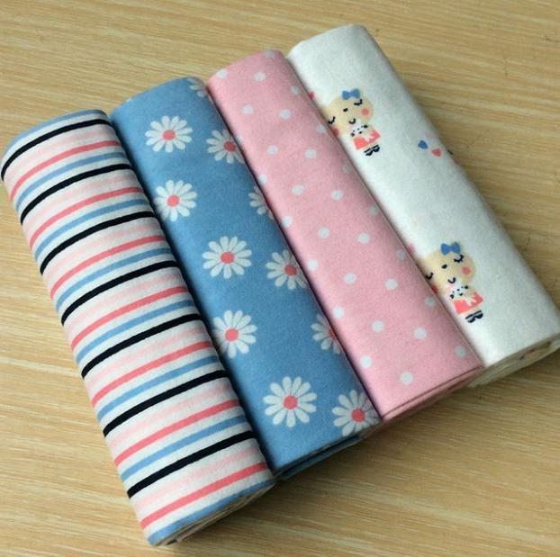 4pcs/Pack Baby Swaddle Newborn Soft Throw Bed