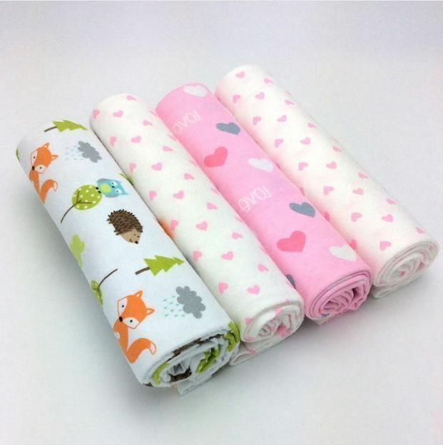 4pcs/Pack Baby Swaddle Blanket Soft Throw