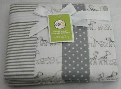 4pk flannel receiving blankets two by two